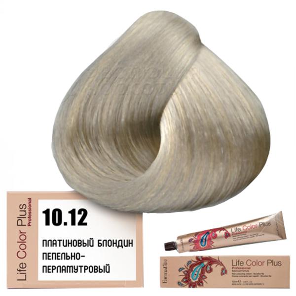 Краска для волос Farmavita Life Color Plus 10.12 Платиновый блондин пепельно-перламутровый фото