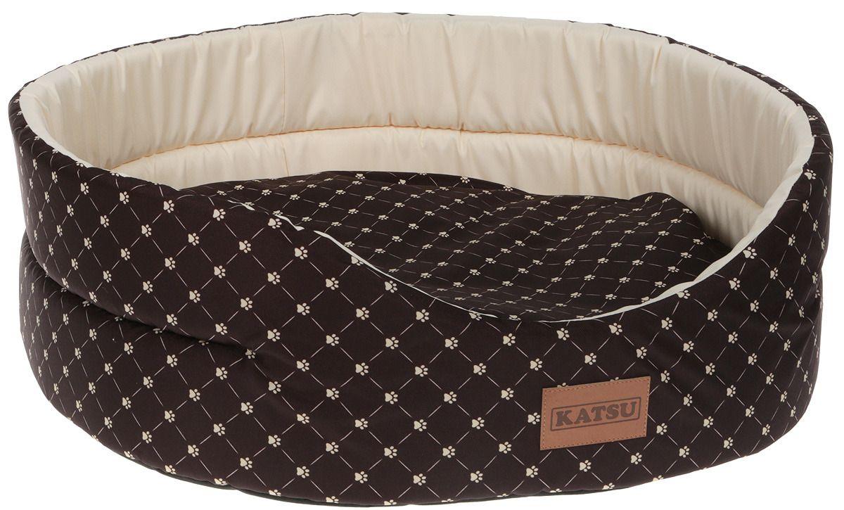 Лежак для кошек KATSU Yohanka shine Cat Paw коричнево-бежевый, размер 5 64х56х23см