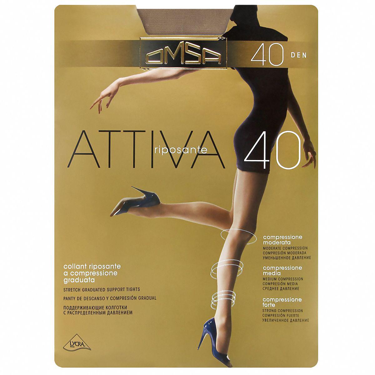Колготки Omsa ATTIVA 40 /  Daino  (Загар) / 4 (L) ATTIVA по цене 279