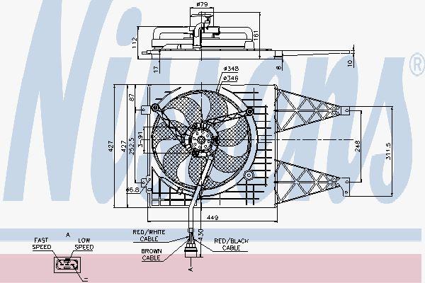 Вентилятор охлаждения двигателя NISSENS 85249