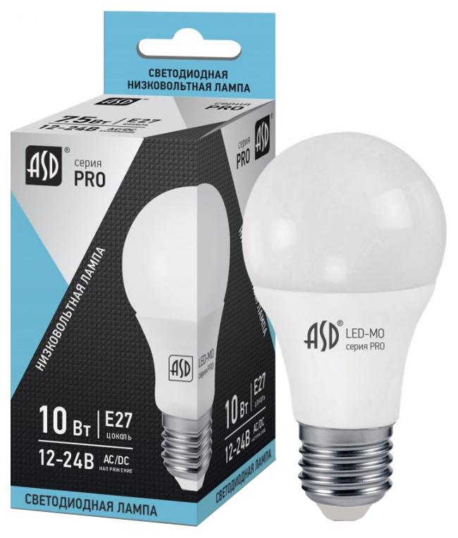 Лампочка ASD A60 E27 12-24V 10W 4000K LED-MO-12/24V-PRO