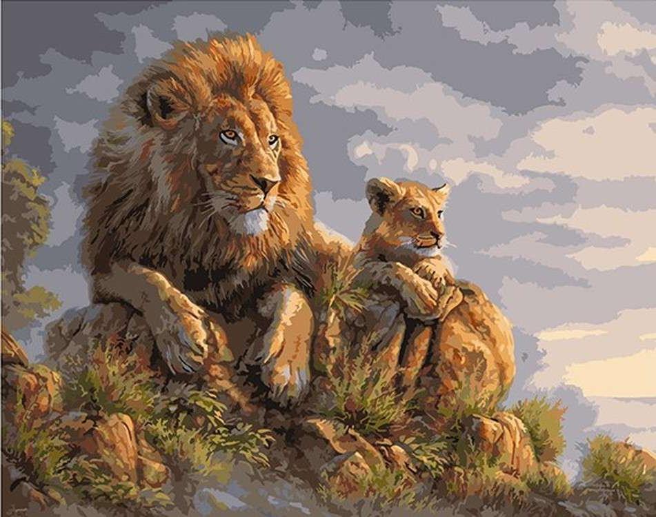 Картинки с львом для декупажа