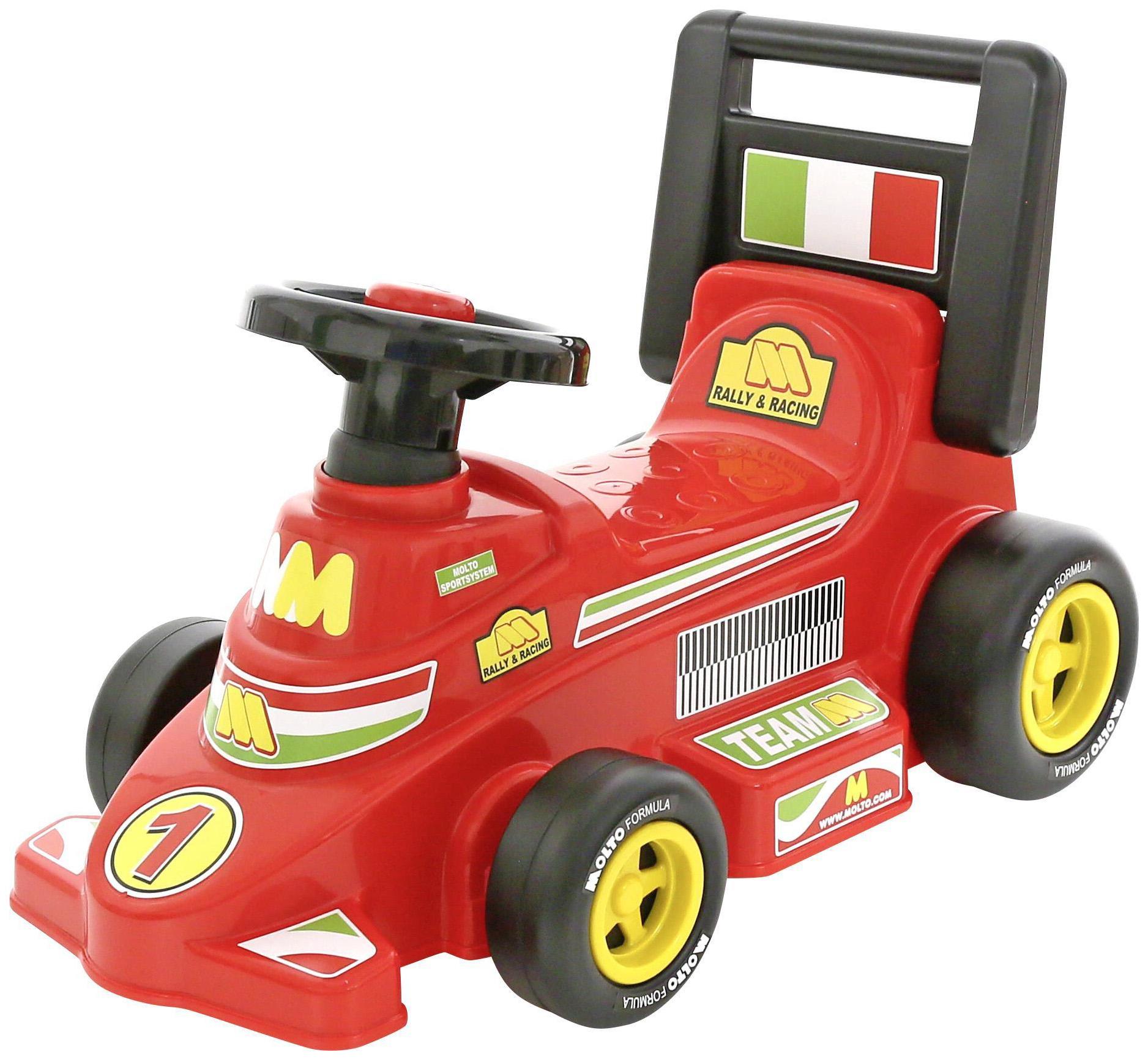 Машина-каталка Полесье гоночный Трек №2 Красный без звукового сигнала