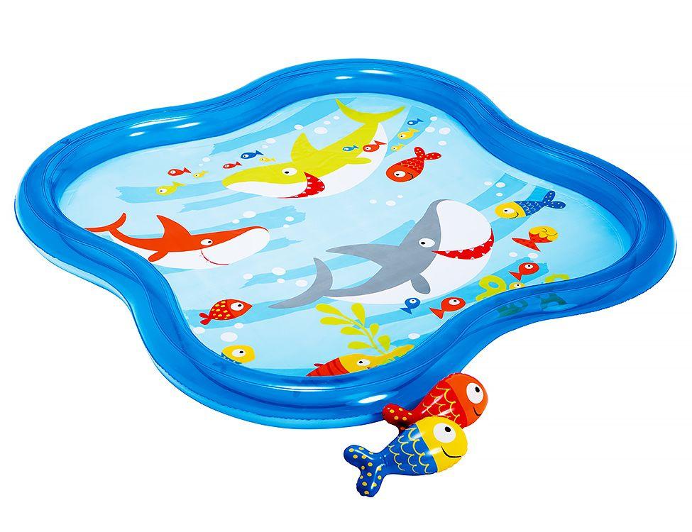 Купить Надувной игровой центр intex морские обитатели, 140х140х11 см, от 1 года до 6 лет, Детские бассейны