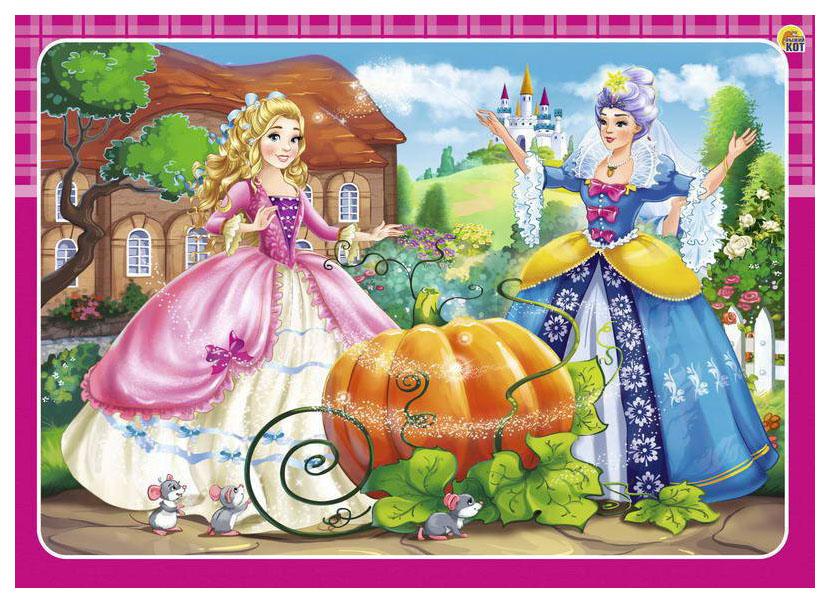 РЫЖИЙ КОТ Пазл-рамка Принцесса золушка, 12 элементов, 15х21 см П-0454