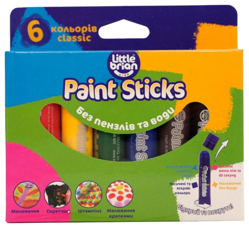 LITTLE BRIAN Краски в стиках, в наборе 6 классических цветов LBPS10CA6 фото