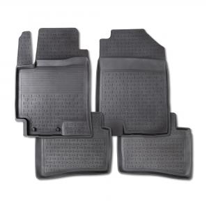 Резиновые коврики SEINTEX с высоким бортом для Toyota Highlander II 2007-2013 / 83275