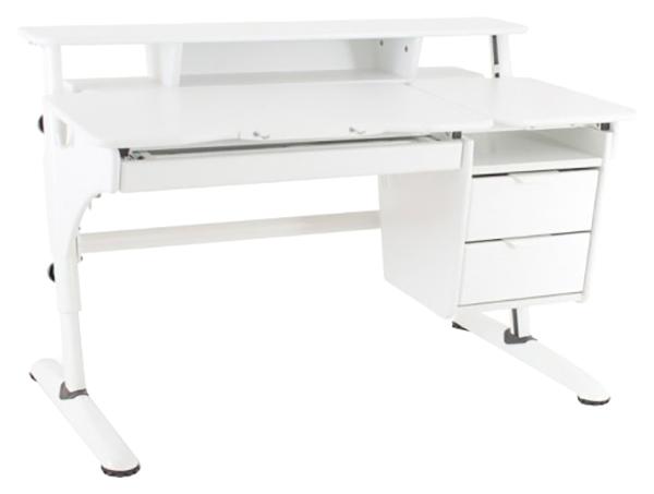 Купить Растущий стол Pondi Эргономик МДФ с тумбой 13575 Белый, Детские столики