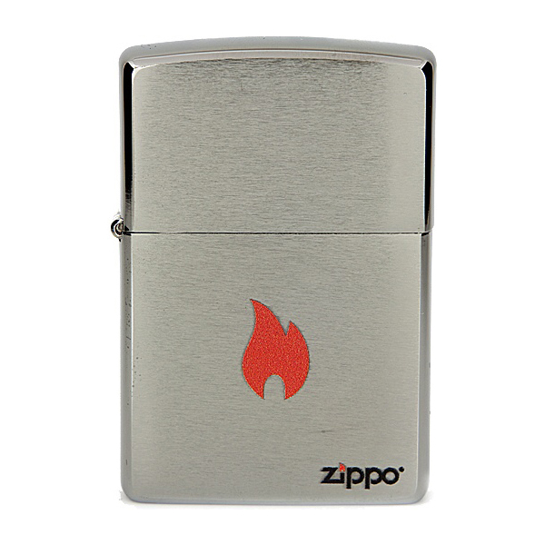 Зажигалка Zippo №200 Flame Brushed Chrome