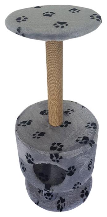Комплекс для кошек Пушок Круглый на ножках Светло