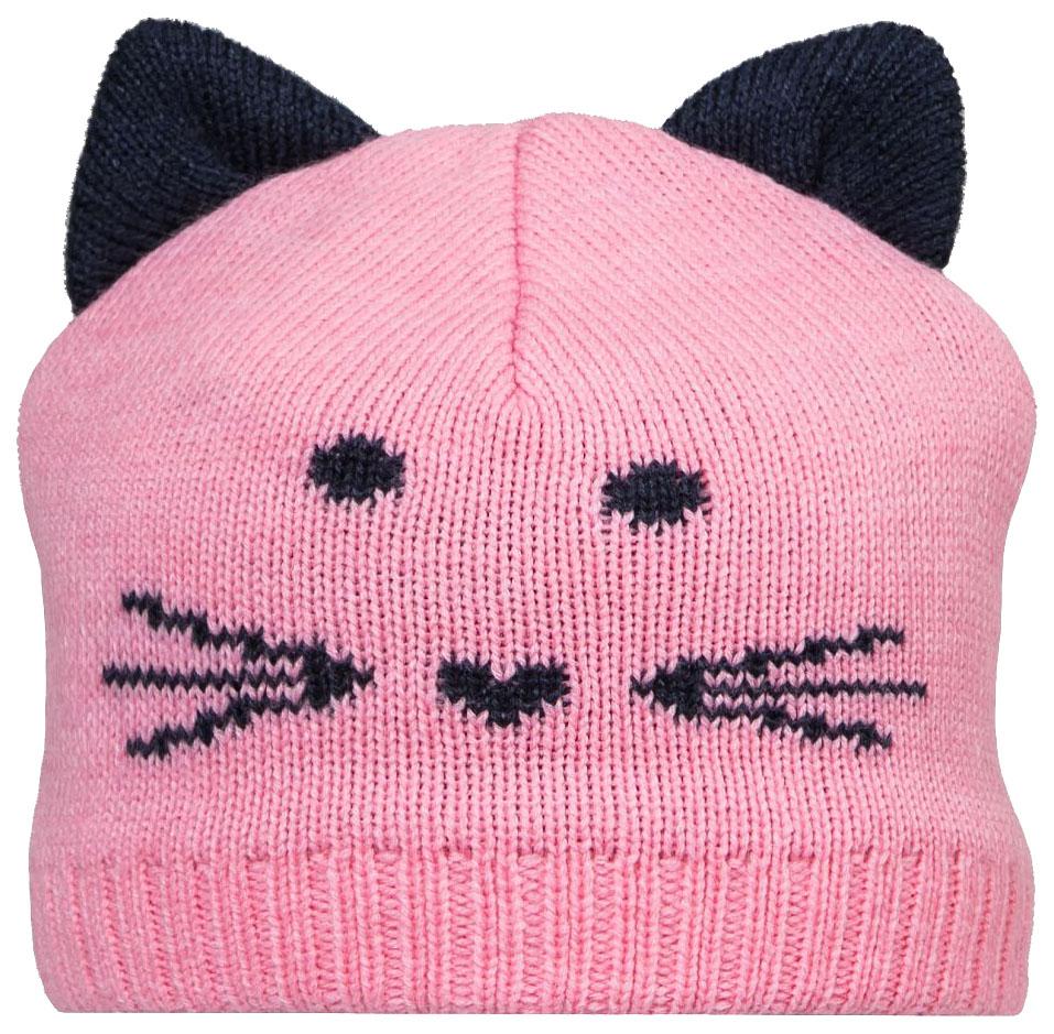 Купить Шапка для девочки Barkito, розовая р.50-52, Детские шапки и шарфы