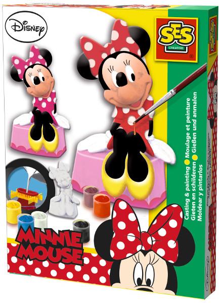 Купить Набор для лепки из гипса SES Creative Минни Маус 01266, Лепка