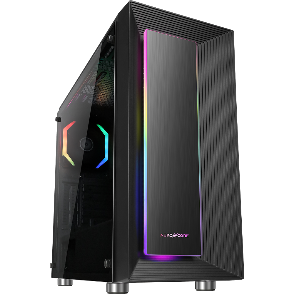 Корпус компьютерный Abkoncore Cronos 510S SYNC Black