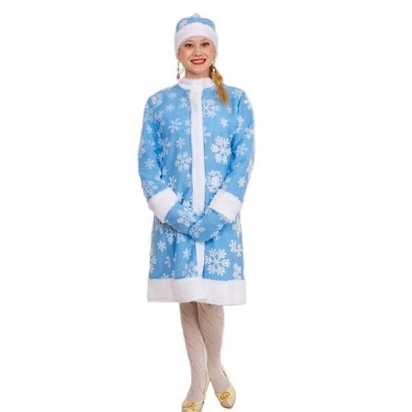 Карнавальный костюм Снегурочка размер 50 цв.голубой 103959