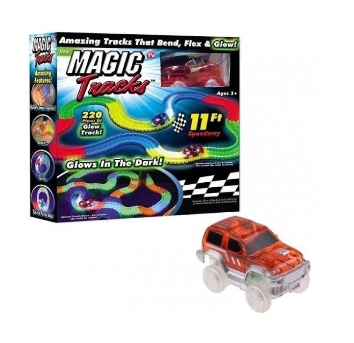 Купить Светящийся гибкий автотрек Star homework MAGIC TRACKS, 220 деталей,