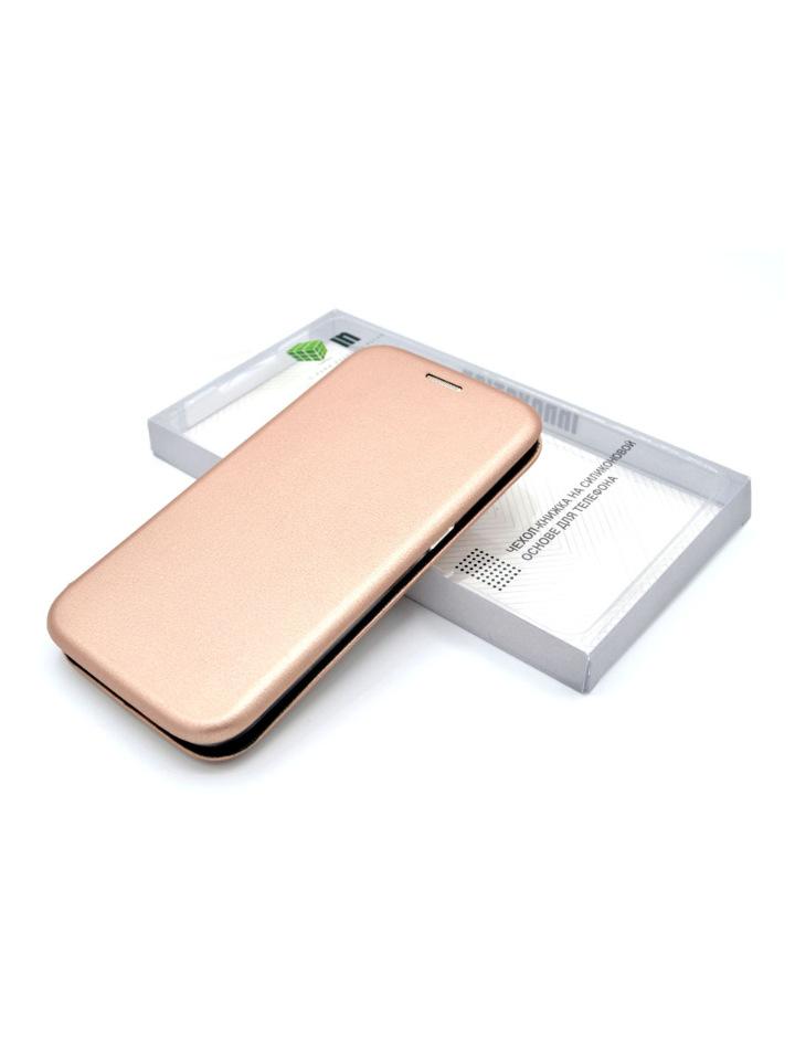 Чехол-книга INNOVATION для Samsung Galaxy A31, розовое золото