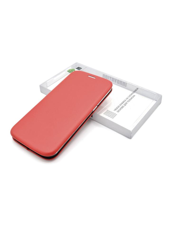 Чехол-книга INNOVATION для Samsung Galaxy A21S, красный