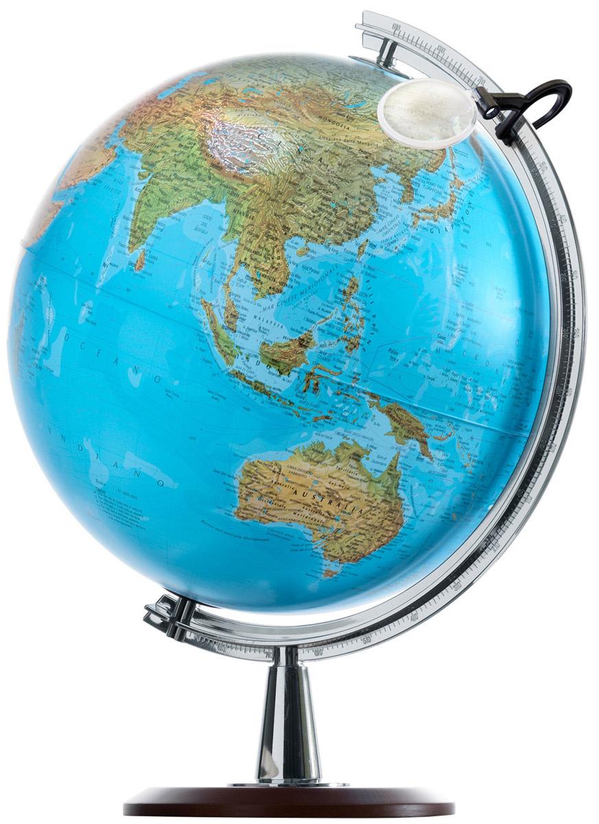 Купить Глобус ATLANTIS с двойной картой, диаметр 40 см, новая карта, подсветка, лупа, деревянная, Nova Rico, Глобусы