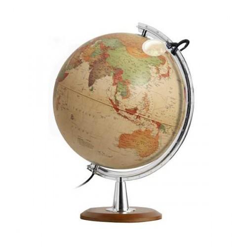 Купить Глобус COLOMBO с двойной картой, античный, диаметр 40 см, новая карта, подсветка, лупа, дер, Nova Rico, Глобусы