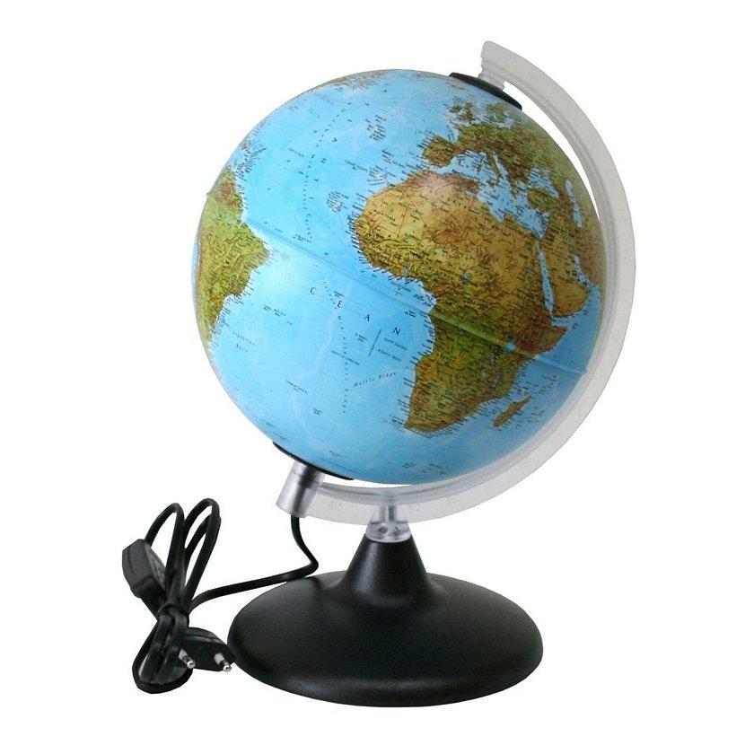 Купить Глобус ELITE с двойной картой, диаметр 20 см, новая карта, подсветка, пласт. подставка и м, Nova Rico, Глобусы