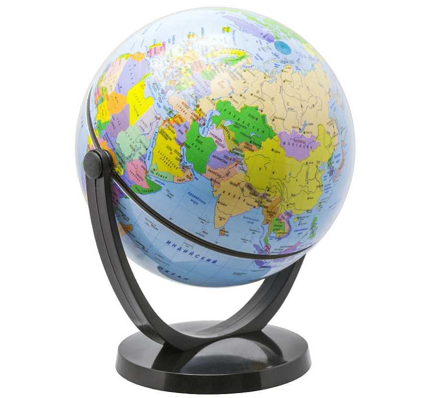 Купить Глобус политический, 10.6 см, с экваториальным креплением, в блистерной упаковке, Rotondo, Глобусы