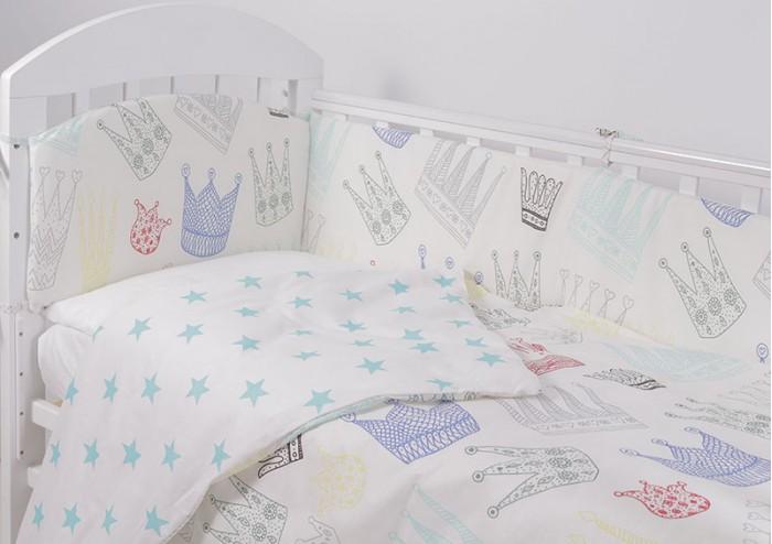 Комплект в кроватку Топотушки Фантазия Короны бирюза