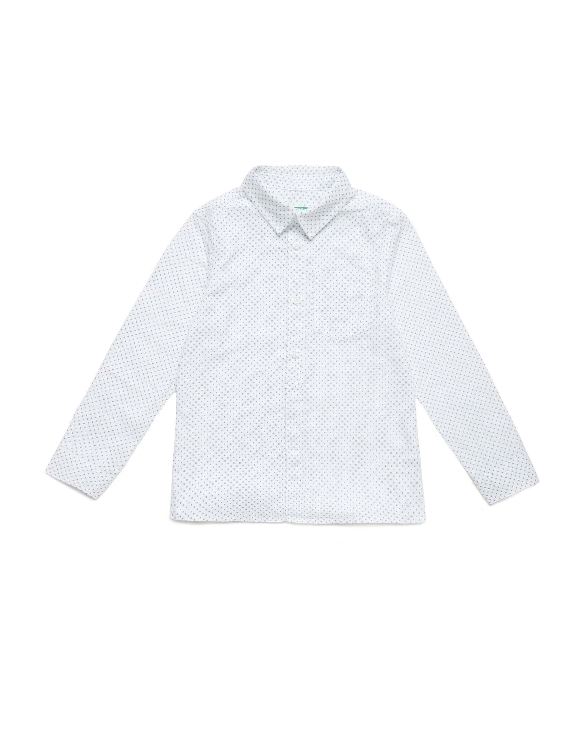 Купить 20P_5PA35QH90_902, Рубашка для мальчиков Benetton 5PA35QH90_902 р-р 122, United Colors of Benetton, Рубашки для мальчиков