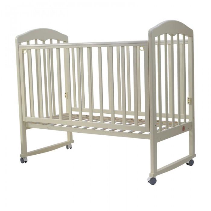 Кроватка колесо/качалка Топотушки Сильвия-2 слоновая кость, 120х60