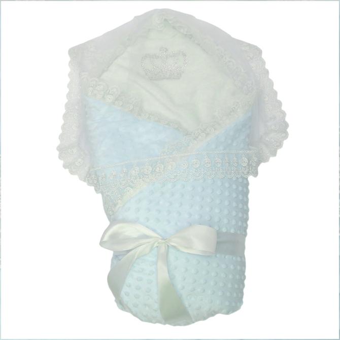 Конверт-одеяло на выписку Топотушки Арина вельбоа мятный фото