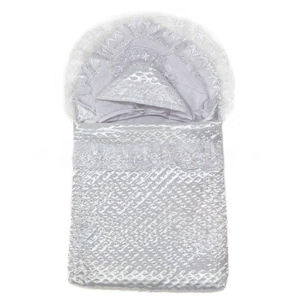 Конверт-одеяло на выписку Топотушки Мой Ангел белый фото