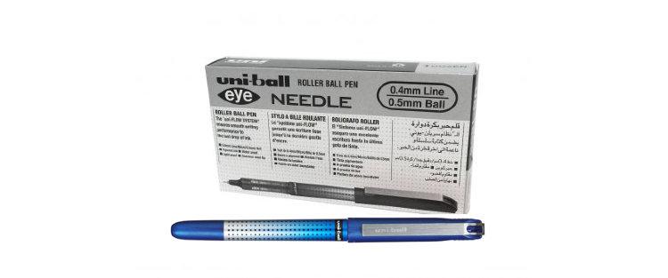 Ручка роллер Uni-Ball Eye Needle UB-185S 0,5мм (синий, упаковка из 12 штук)