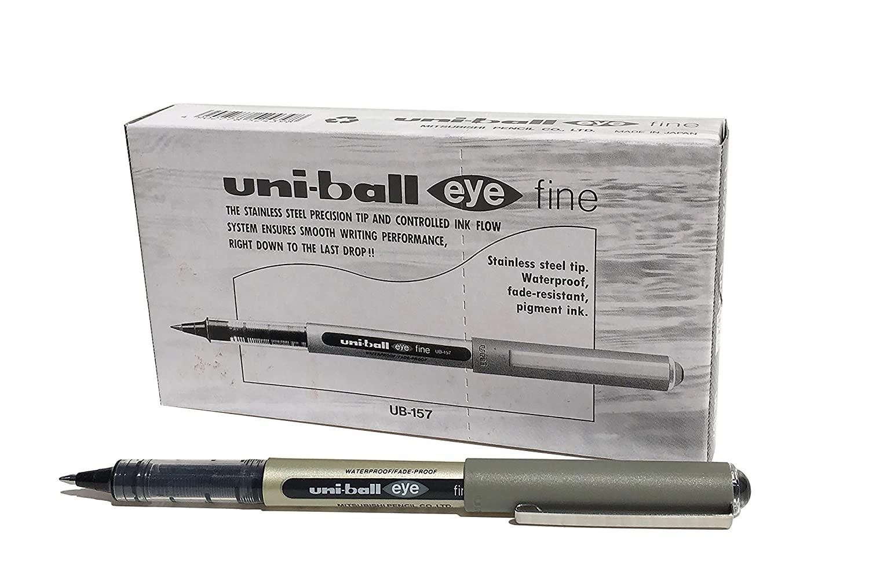 Ручка роллер Uni-Ball Eye 0,7мм (черный, упаковка из 12 штук)
