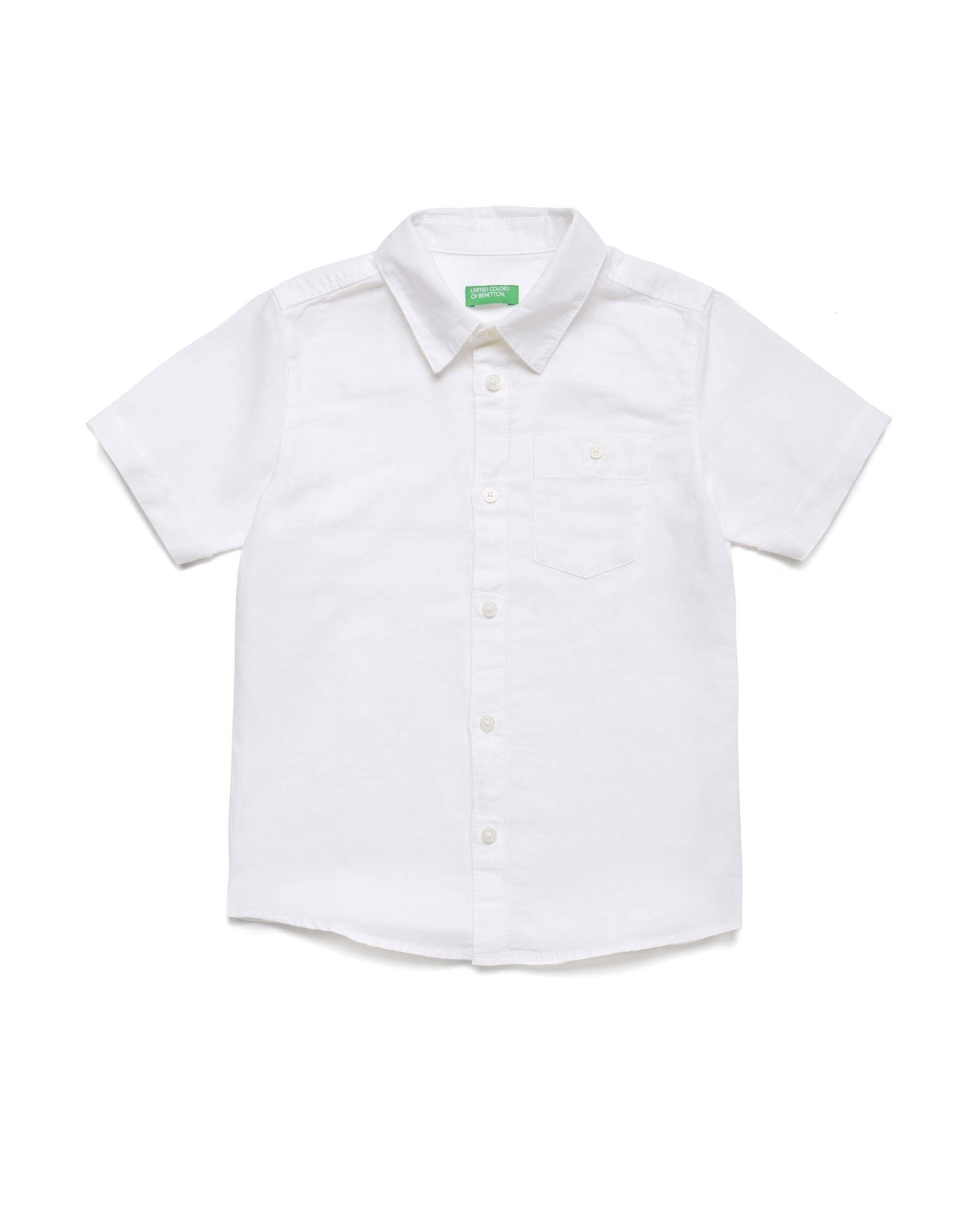 Купить 20P_5OK45QHB0_101, Рубашка для мальчиков Benetton 5OK45QHB0_101 р-р 92, United Colors of Benetton, Кофточки, футболки для новорожденных