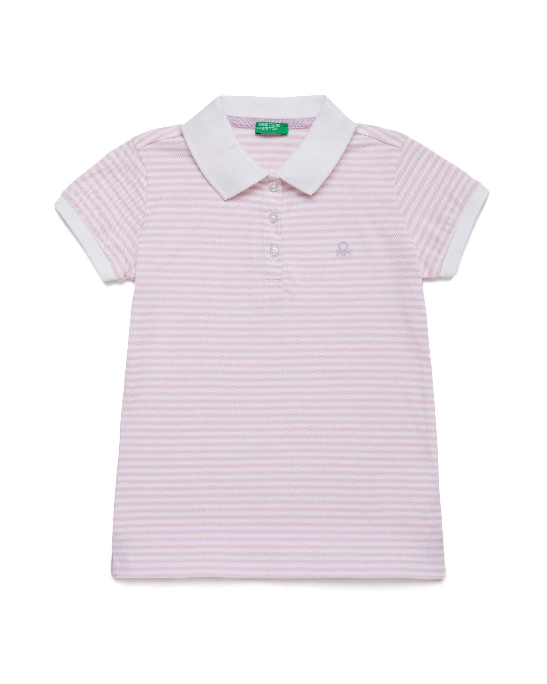Купить 20P_3PK6C3126_69G, Поло-пике для девочек Benetton 3PK6C3126_69G р-р 80, United Colors of Benetton, Кофточки, футболки для новорожденных