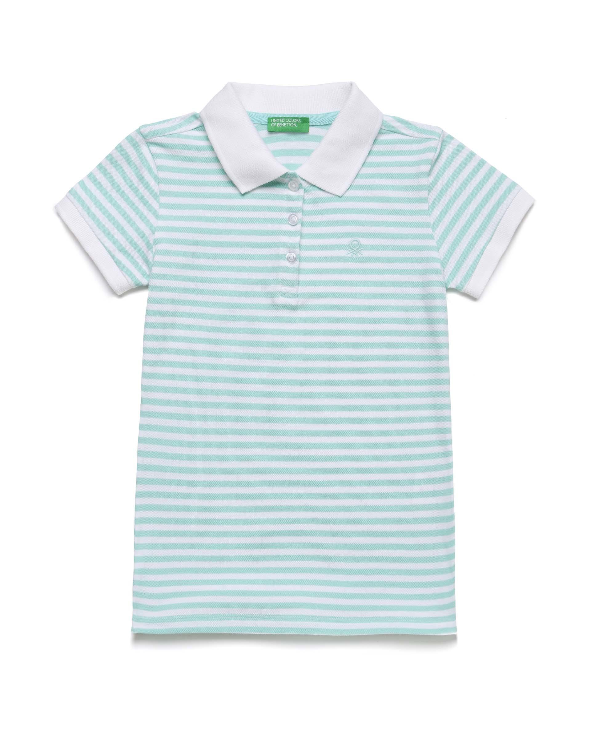 Купить 20P_3PK6C3126_69J, Поло-пике для девочек Benetton 3PK6C3126_69J р-р 92, United Colors of Benetton, Кофточки, футболки для новорожденных
