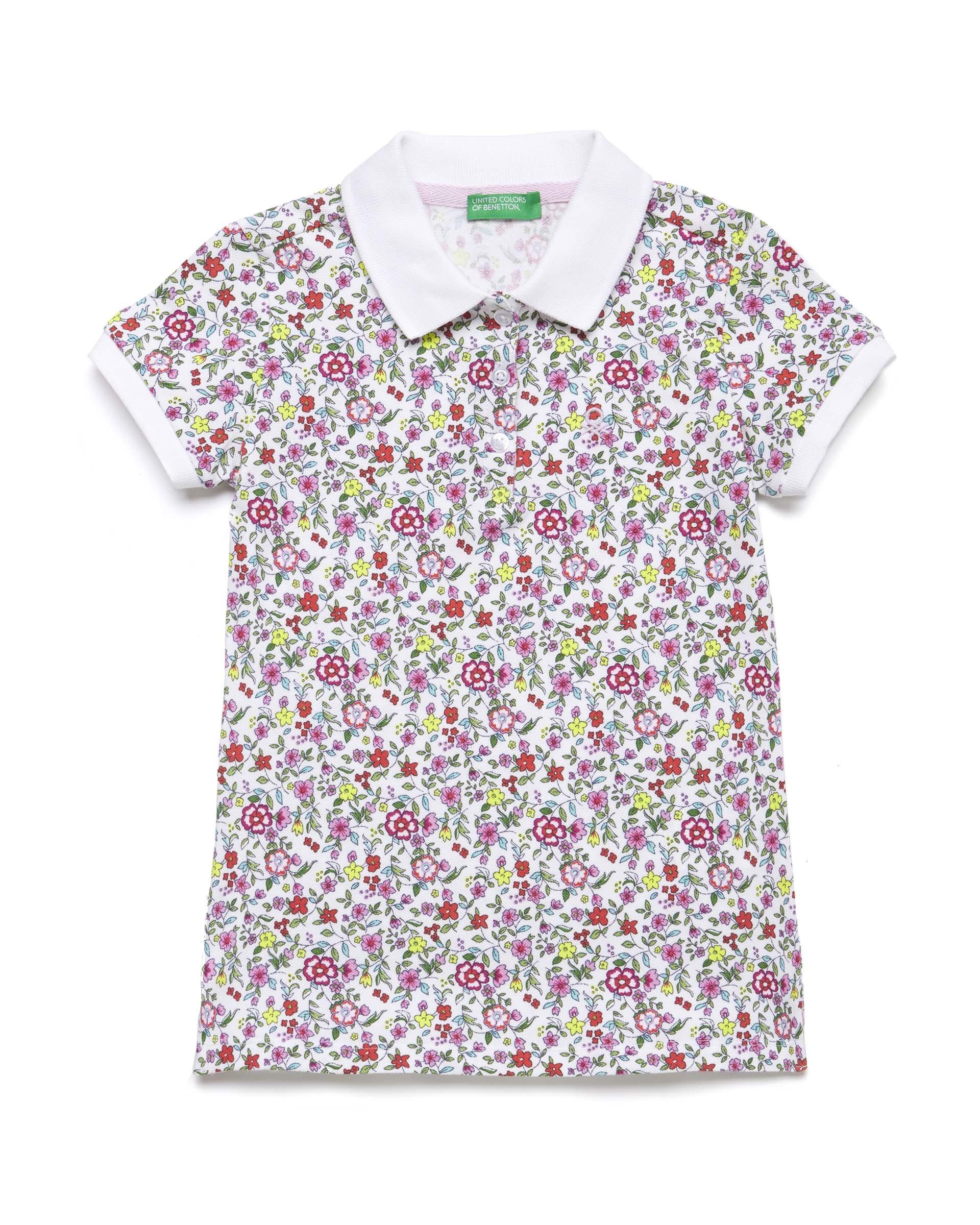 20P_3PK6C3126_69K, Поло-пике для девочек Benetton 3PK6C3126_69K р-р 110, United Colors of Benetton, Детские футболки  - купить со скидкой