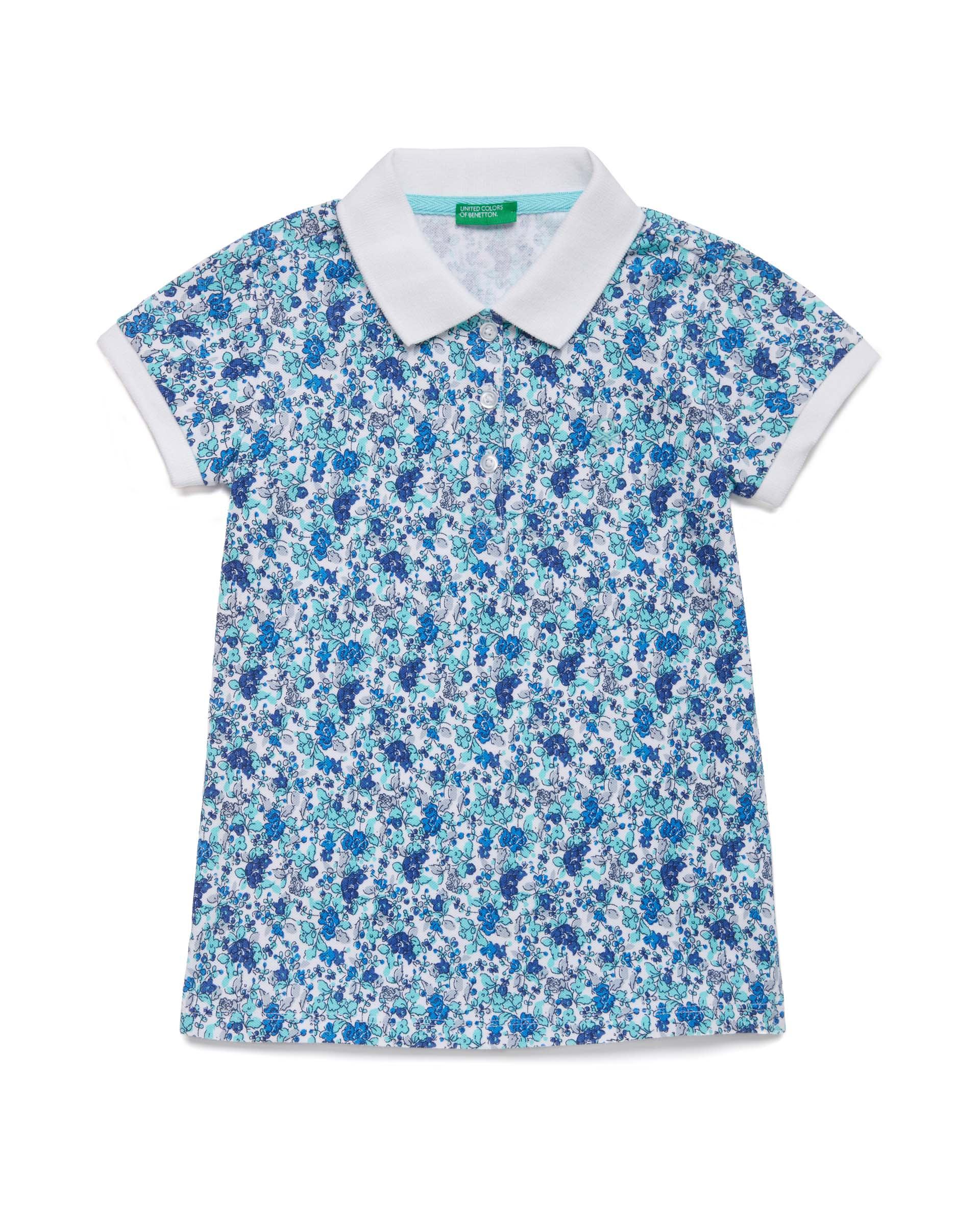 Купить 20P_3PK6C3126_69L, Поло-пике для девочек Benetton 3PK6C3126_69L р-р 92, United Colors of Benetton, Кофточки, футболки для новорожденных