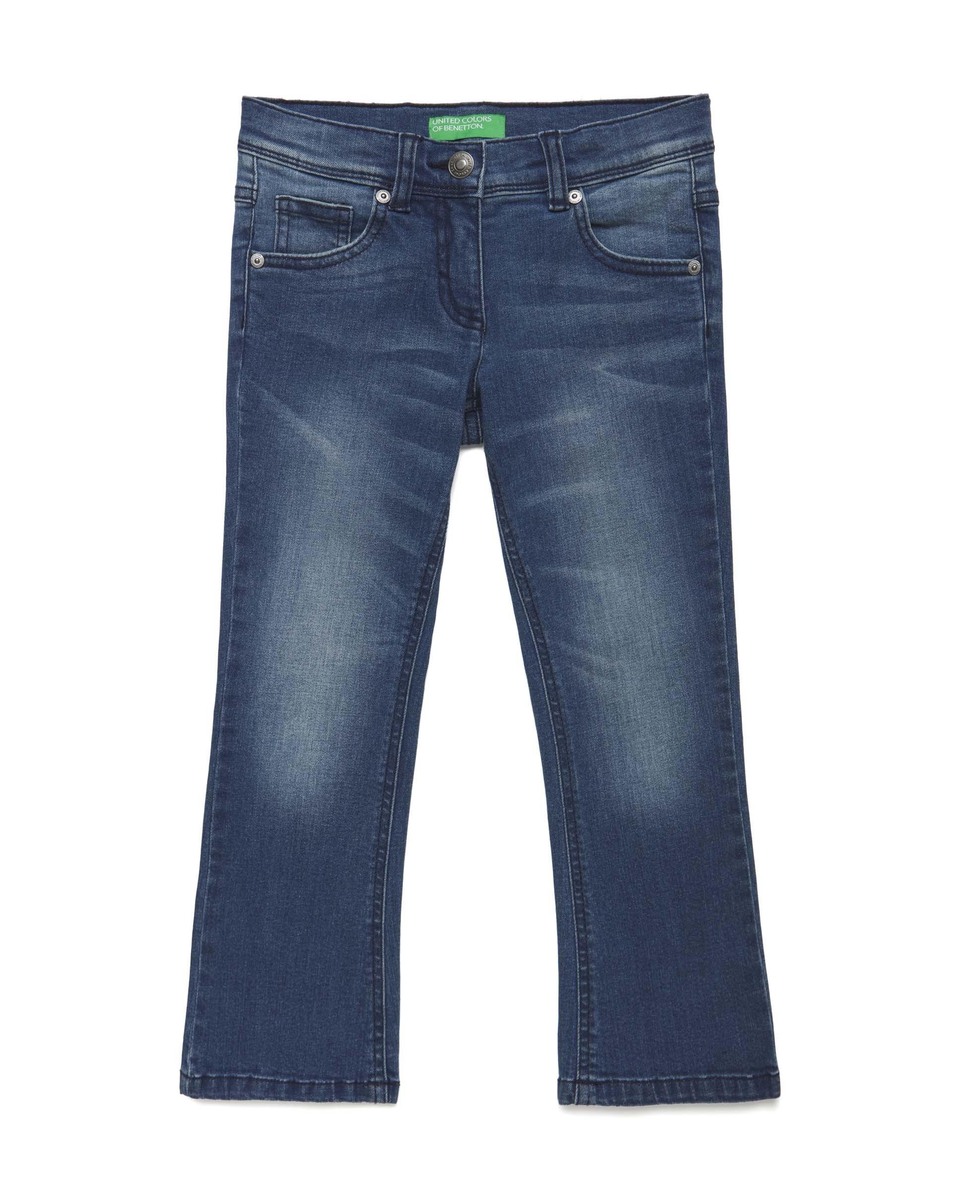 Купить 20P_4DMT57JZ0_901, Джинсы для девочек Benetton 4DMT57JZ0_901 р-р 152, United Colors of Benetton