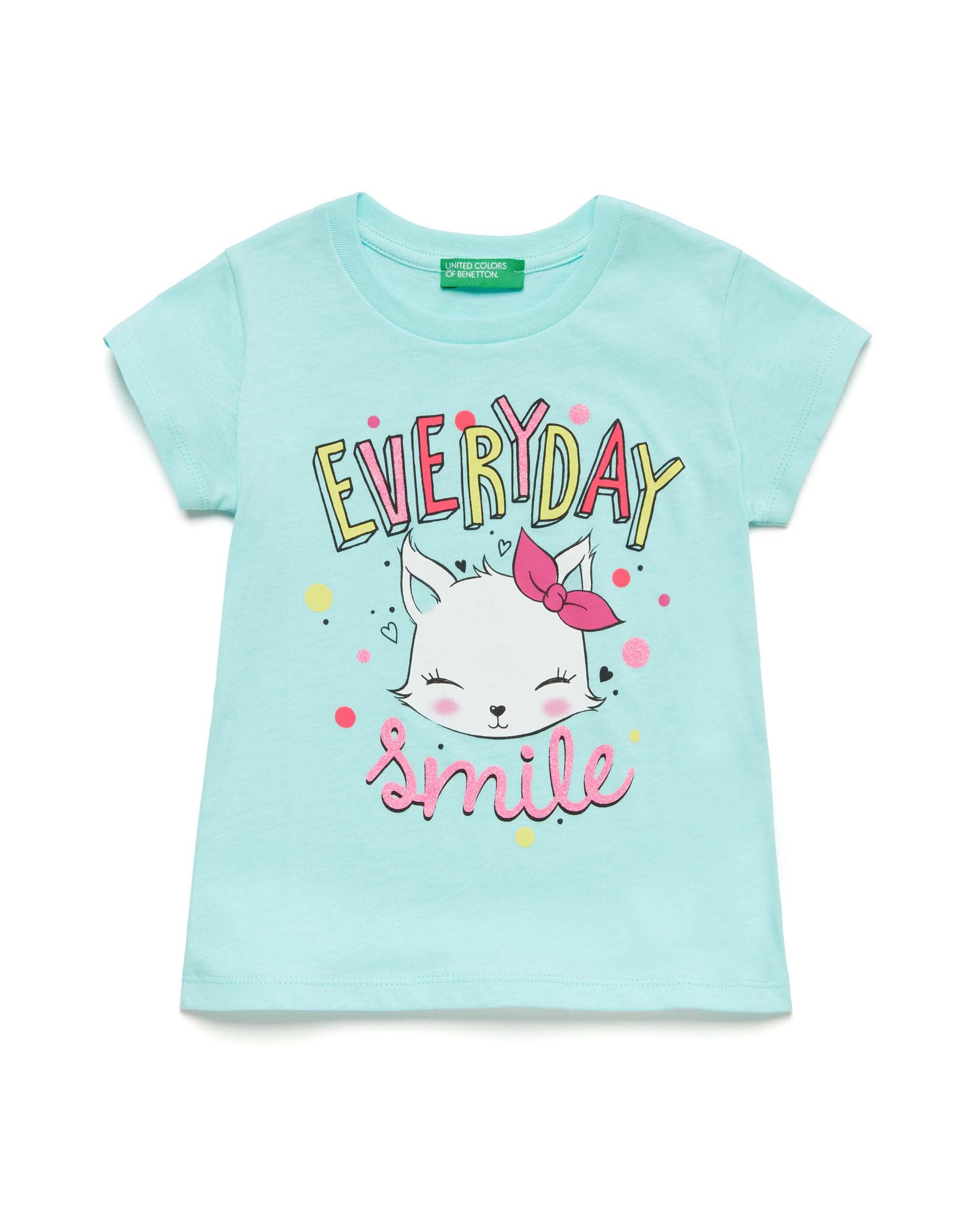 Купить 20P_3096C1BAP_0Z8, Футболка для девочек Benetton 3096C1BAP_0Z8 р-р 80, United Colors of Benetton, Кофточки, футболки для новорожденных