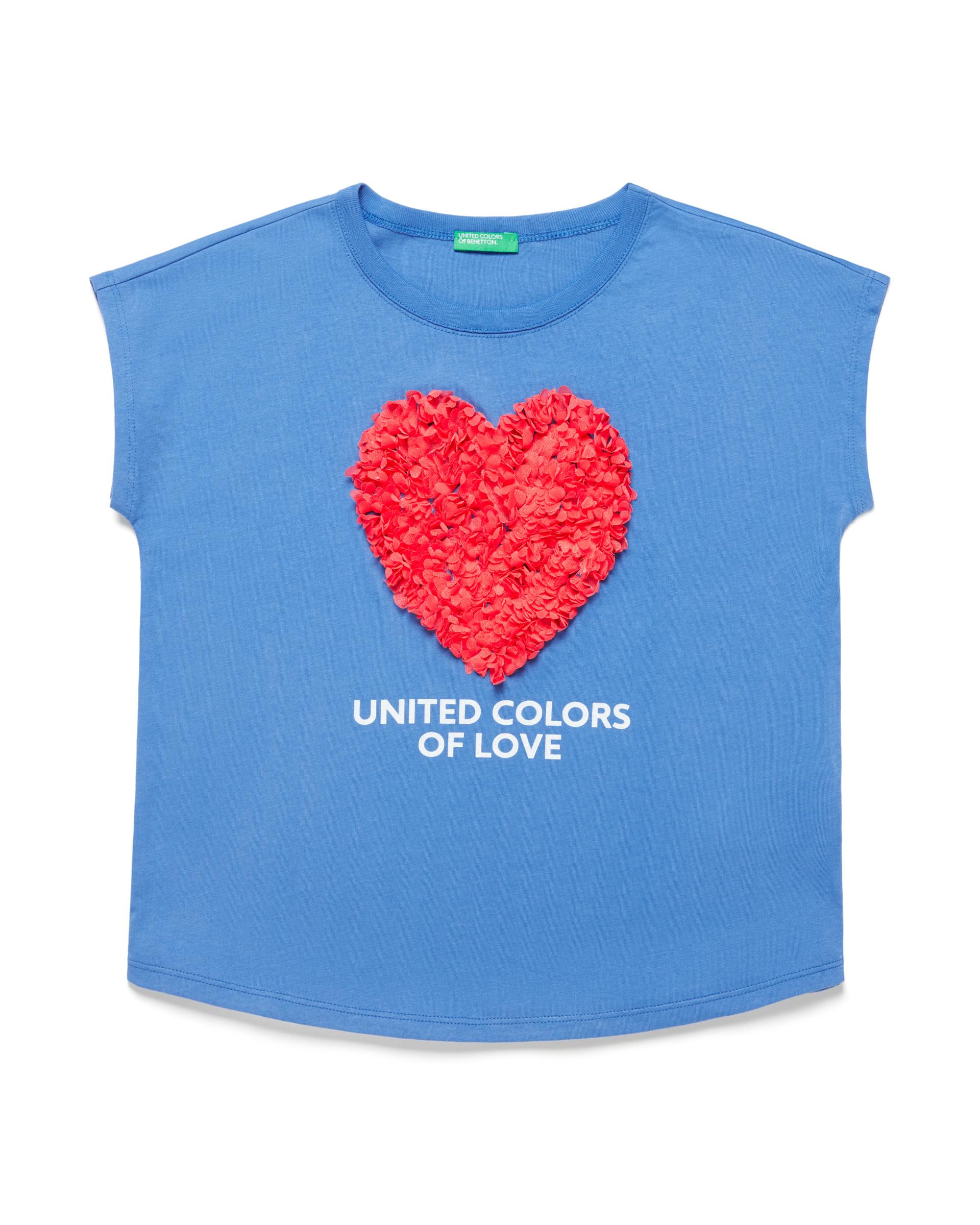 Купить 20P_3I1XC14J2_08A, Футболка для девочек Benetton 3I1XC14J2_08A р-р 152, United Colors of Benetton, Футболки для девочек