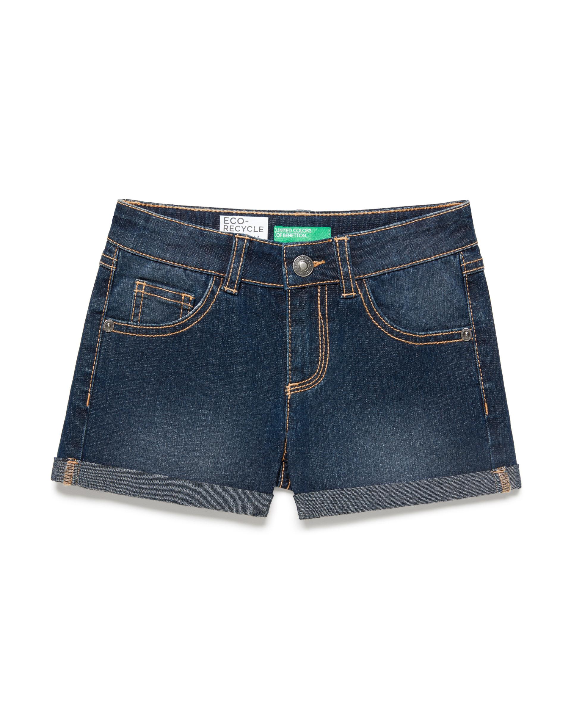 Купить 20P_4XA2597V0_901, Джинсовые шорты для девочек Benetton 4XA2597V0_901 р-р 128, United Colors of Benetton, Шорты для девочек