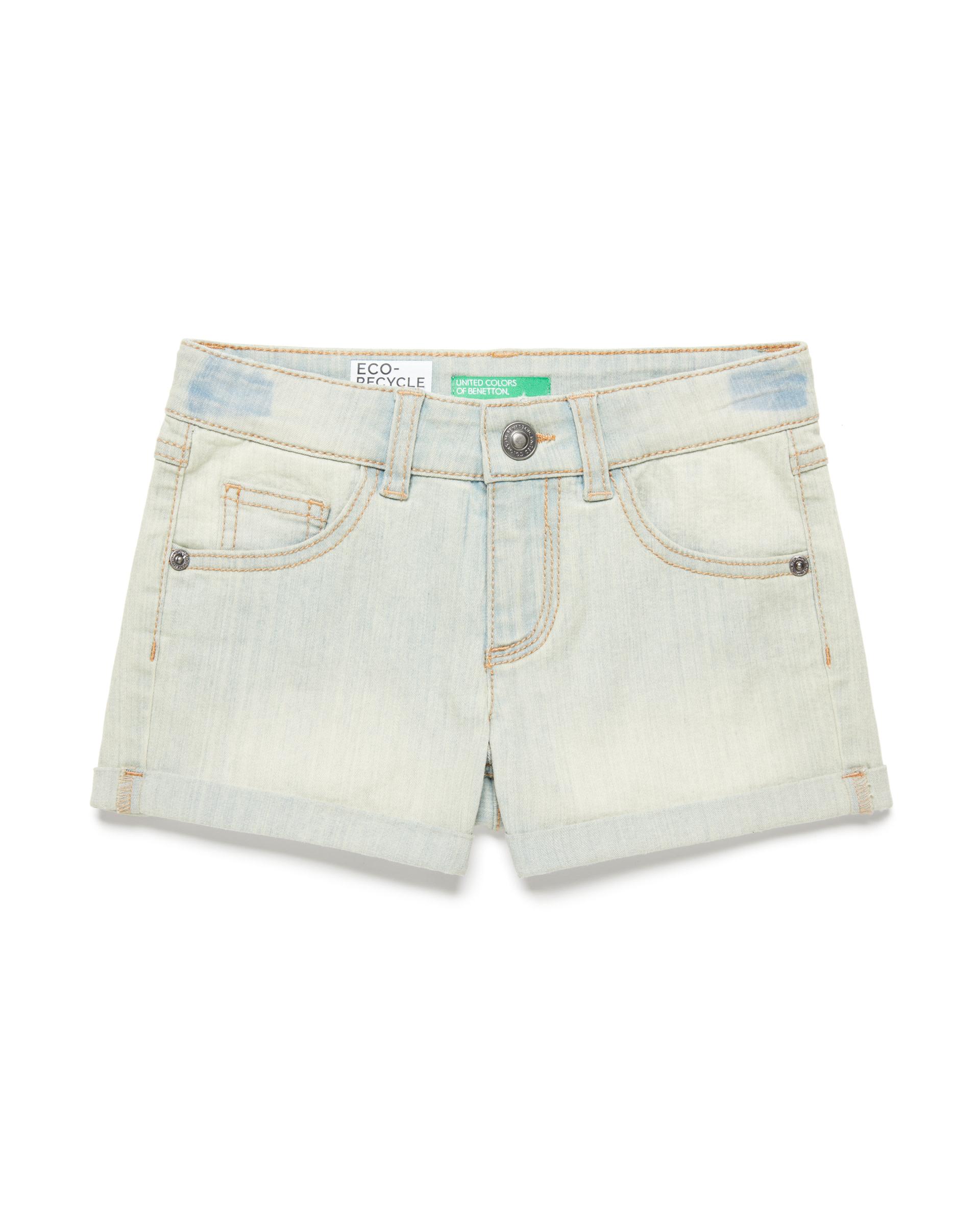 Купить 20P_4XA2597V0_902, Джинсовые шорты для девочек Benetton 4XA2597V0_902 р-р 140, United Colors of Benetton, Шорты для девочек