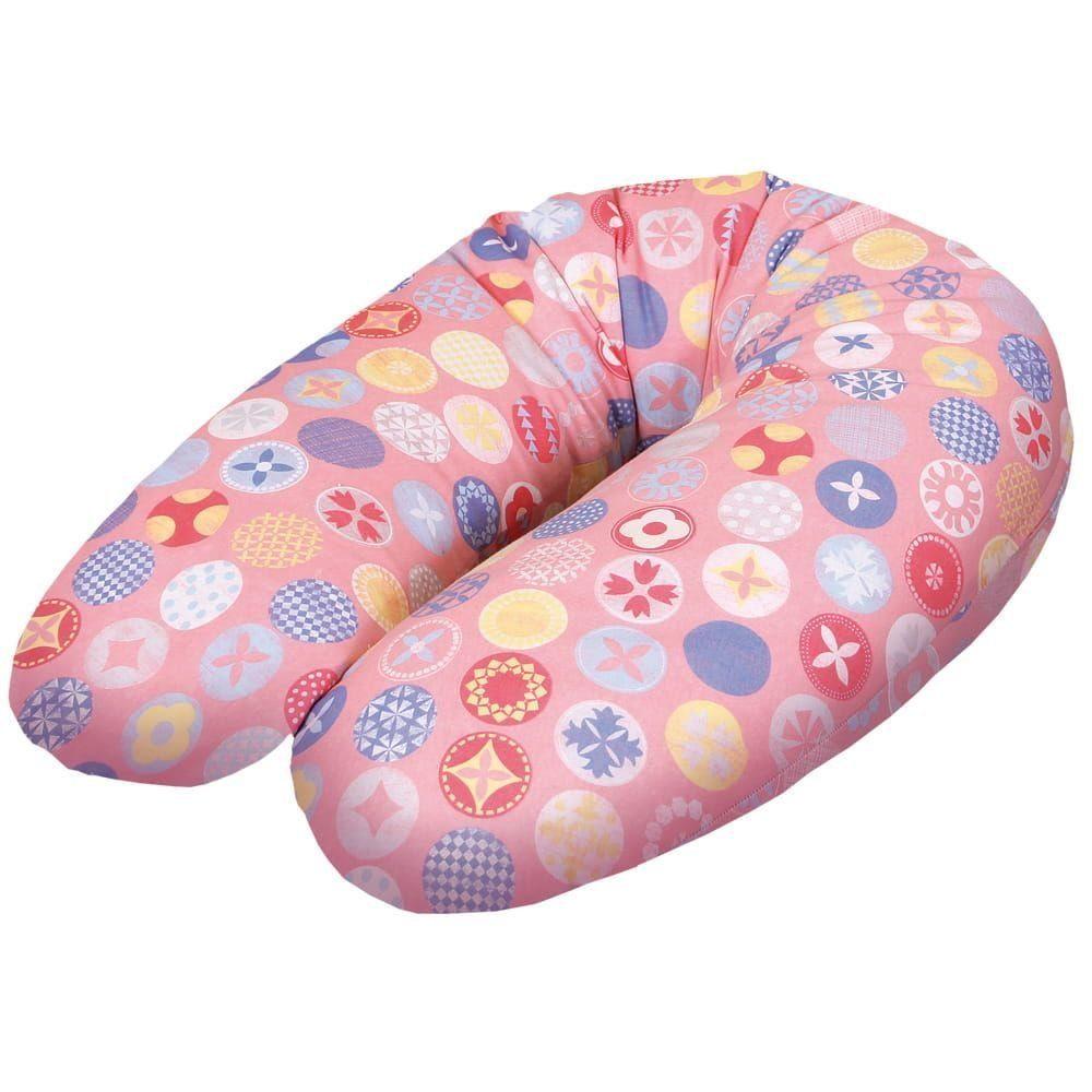 Подушка для кормления Ceba Baby Physio Multi Circles Pink трикотаж