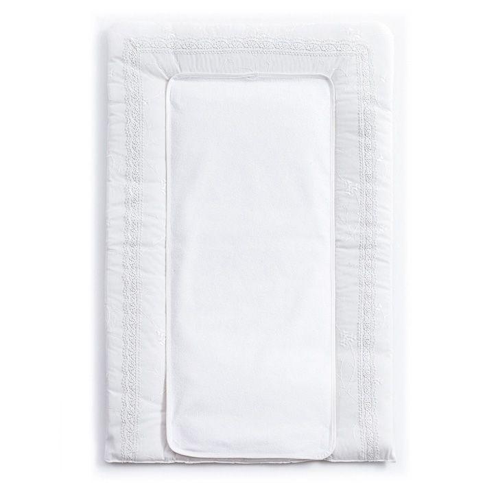 Пеленальный матрасик FUNNABABY Premium Baby белый 50x80