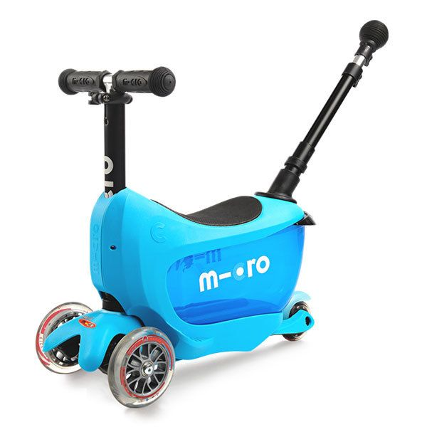 Купить Самокат-беговел детский трехколесный Micro Mini2GO Deluxe Plus Blue,