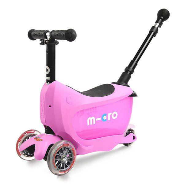 Купить Самокат-беговел детский трехколесный Micro Mini2GO Deluxe Plus Pink,