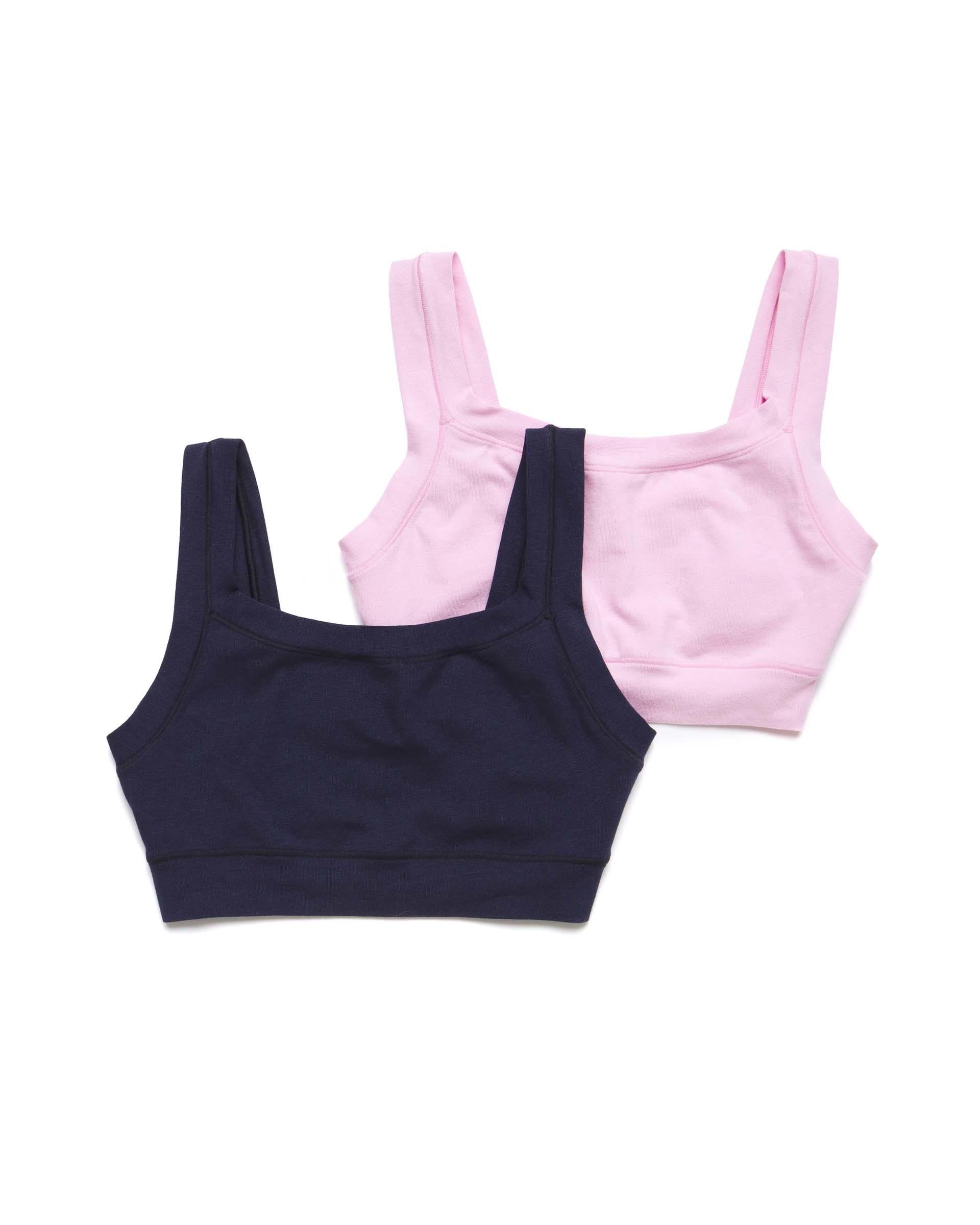 Купить 20P_3Q950R15E_902, Набор из двух бра для девочек Benetton 3Q950R15E_902 р-р 128, United Colors of Benetton, Майки для девочек