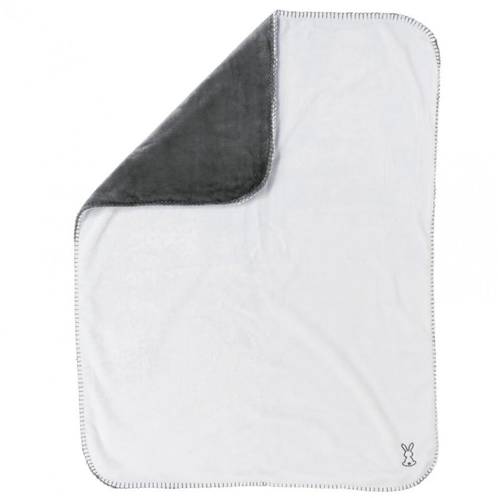Покрывало Nattou Supersoft Lapidou Кролик anthracite/white, 75х100