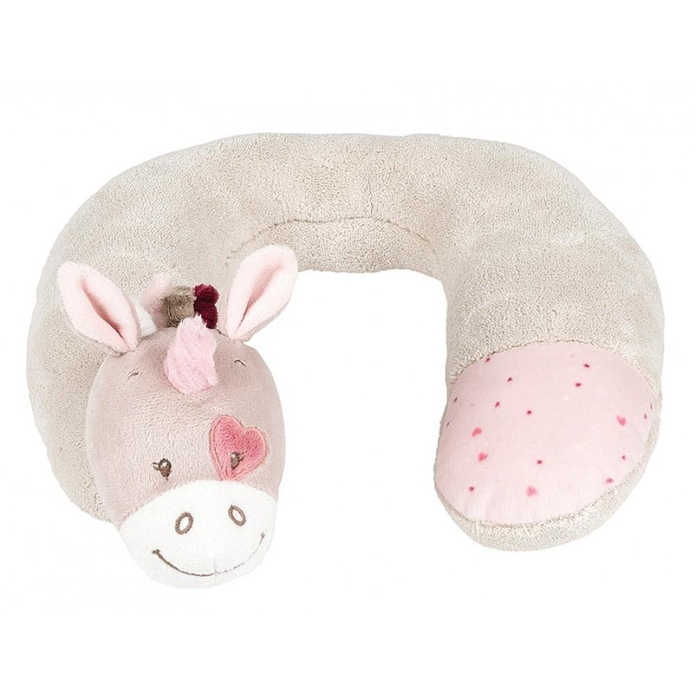 Подушка подголовник Nattou Neck pillow Nina, Jade