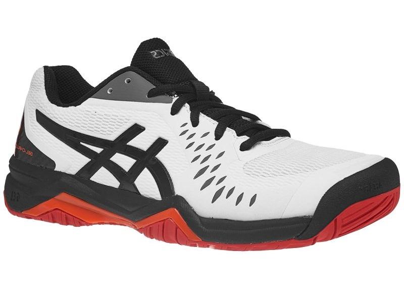 Теннисные кроссовки Asics Gel-Challenger 12 White/Black/Red (46) Gel-Challenger 12 по цене 5 990